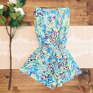 Lilly Pulitzer Colleen Romper Sea Soirée Blue